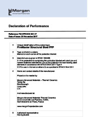 Declaration of Performance for Structrual Steel System