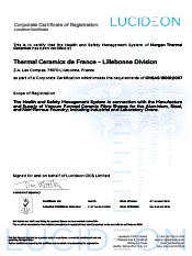 Thermal Ceramics, Lillebonne, France - OHSAS 18001